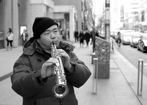 Saturday street sax by PJMixer