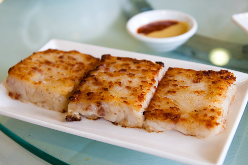 Pan Fried Turnip Cake with Preserved Meat at Regal 16 Chinese Restaurant