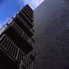 外壁の非常階段