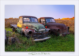 Old Rural Trucks waiting the hands of Restoration perhaps ?