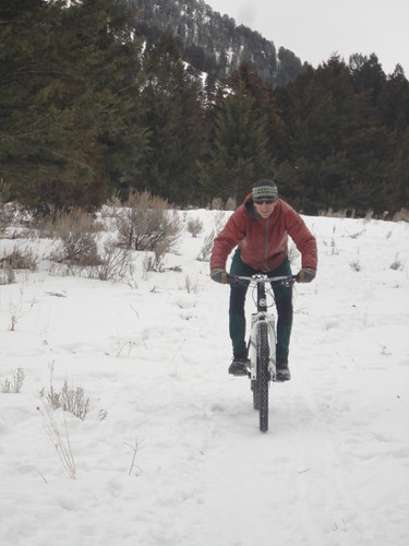 Winter Biking in Tetons