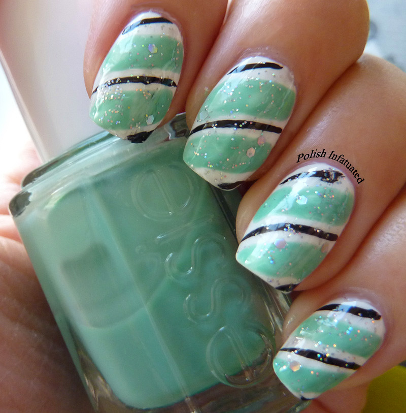stripy nail art1