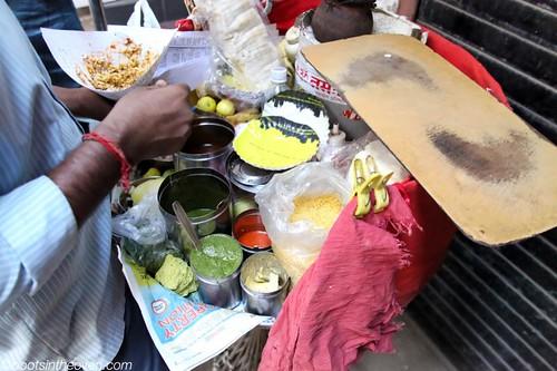 Making Bhel Puri