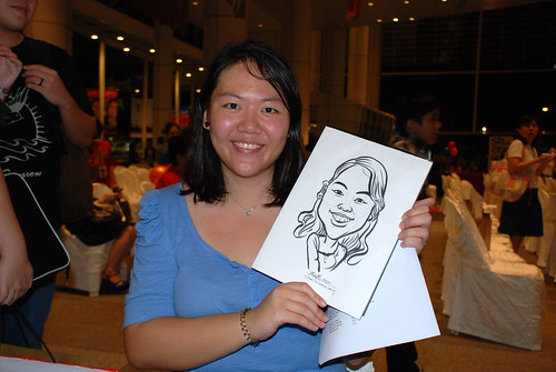 caricature live sketching for kidsREAD Volunteer Appreciation Day 2011 - 15