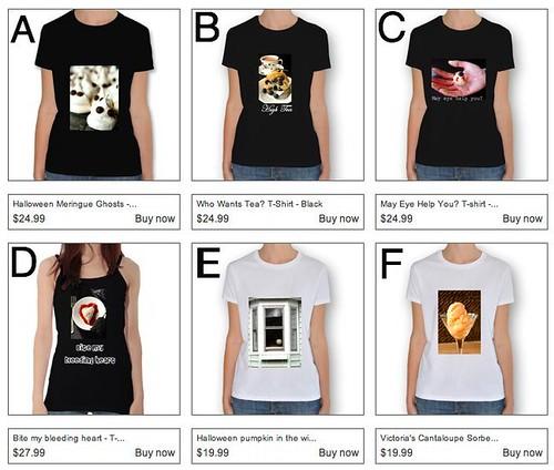 Suzie the Foodie T-shirts: Mock Ups