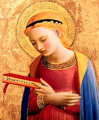 Beato Angélico (1431), Virgen de la Anunciación