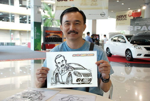Caricature live sketching for Tan Chong Nissan Motor Almera Soft Launch - Day 3 - 21