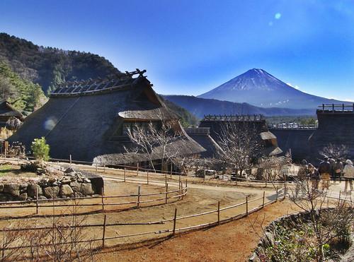 house japan fuji 西湖 富士山 yamanashi 山梨 西湖いやしの里根場