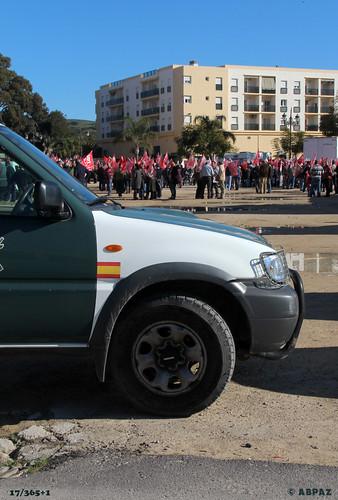 Manifestación trabajadores Los Barrios by Bakalito (Antonio Benítez Paz)