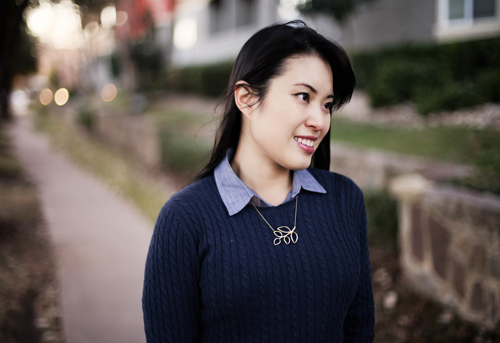 uo bdg chambray shirt, gap cable knit navy sweater, lylif olive branch necklace, j. brand 10in skinny jeans, target mossimo pearce camel patent pumps, louis vuitton speedy 25 purse, mk5430