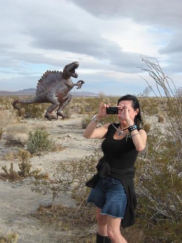 Neeta photoing a dino3