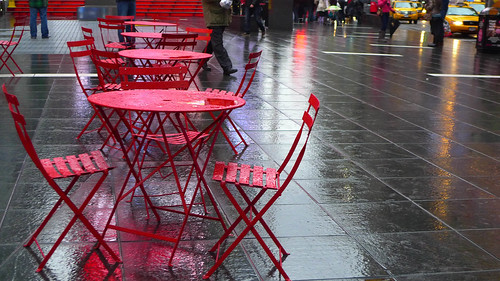 Tables in the Rain