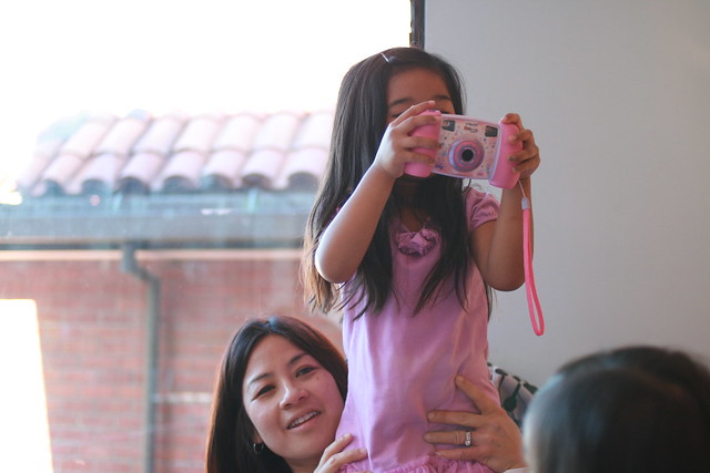 with her digital camera