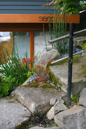 japanese stone steps detail