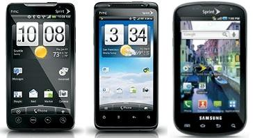 Sprint HTC Evo 4G,Evo Design 4G, Samsung Epic 4G software update