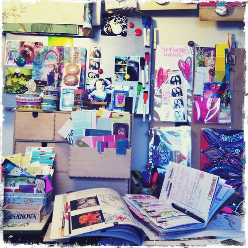 a view on one of my studio tables