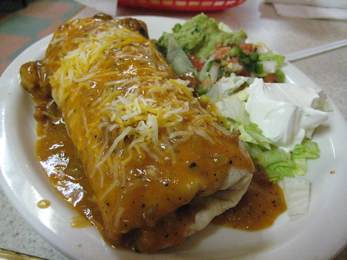 Chicken Burrito at Chris' Restaurant