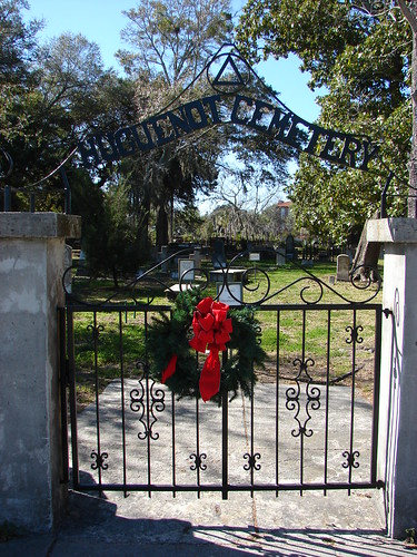 Gate to Huguenot Cemetery