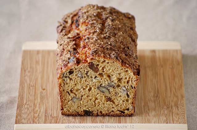 Pan dulce de avena con castañas