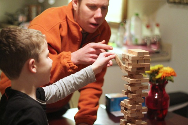 Familie Schmitt Jenga Tournament