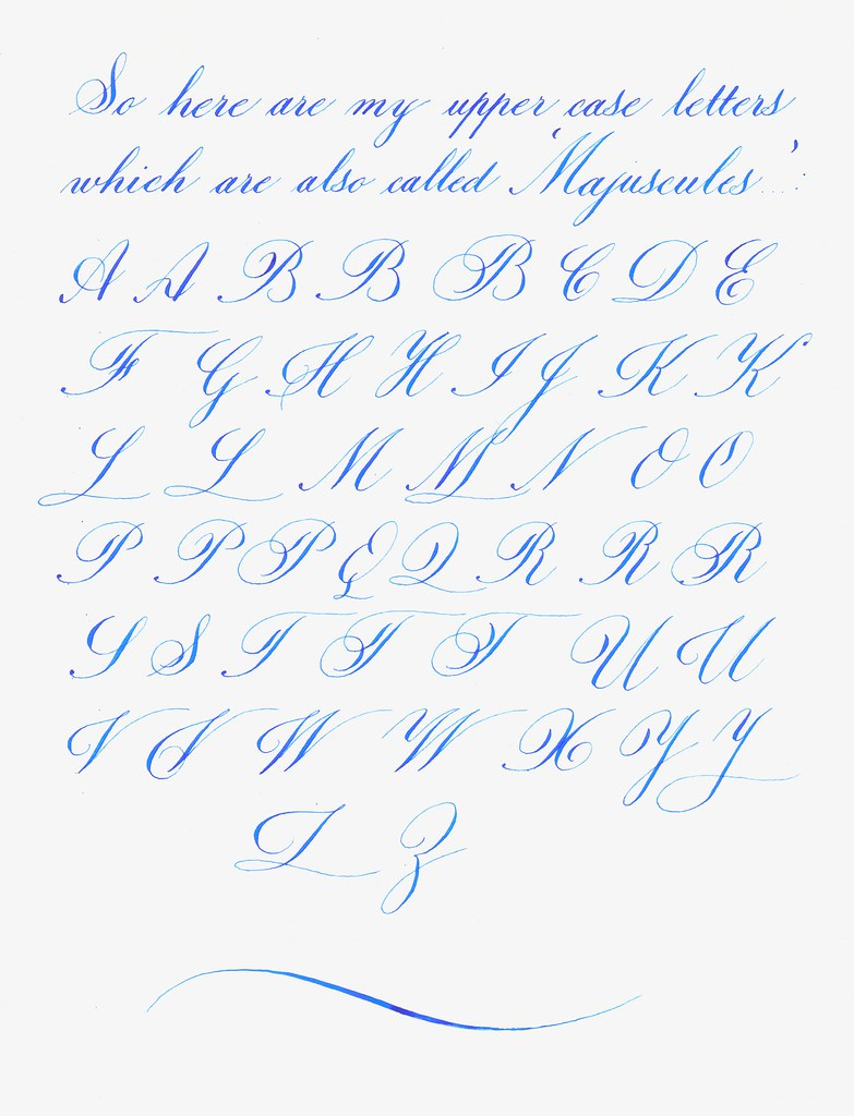 My Copperplateish Alphabet Calligraphy Discussions The