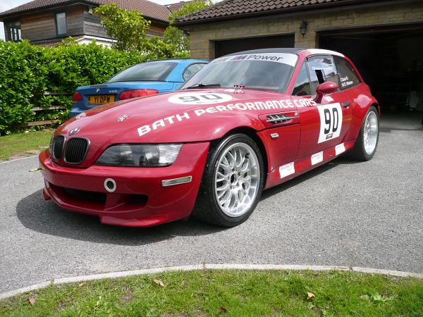 1998 M Coupe | Imola Red | Imola/Black | Race Car | Track