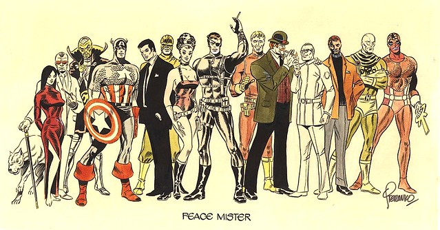 Steranko Peace Mister - Christmas Card With His Marvel Heroes