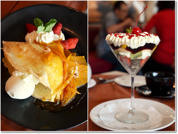 Crepe Suzette & English Trifle