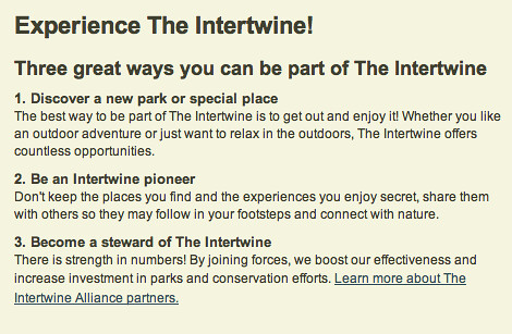 Experience the Intertwine