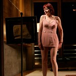 Marjorie (Leslie Lyles) pines for her long-ago encounter with painter Edward Hopper in the Huntington Theatre Company's production of