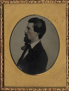 Profile of a Man - Ambrotype on Ruby Glass