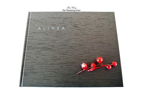 My copy of the Alinea cookbook