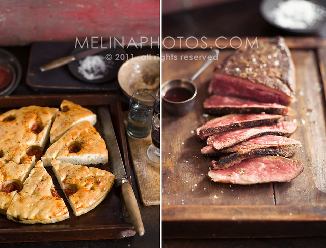 cast iron tri-tip steak & tomato focaccia