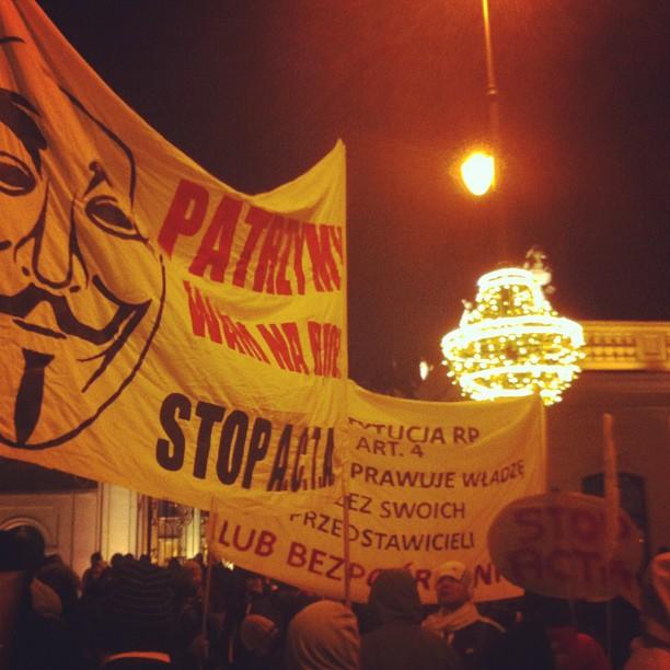 Guy Fawkes poster #acta #warsaw