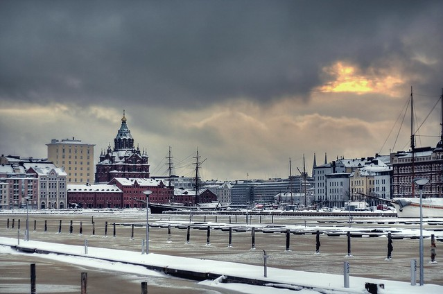 Helsinki y sus aguas congeladas