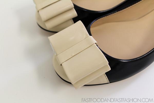Talbots Black and White Lyla Tuxedo flat Bow