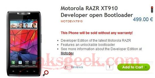 Motorola RAZR Developer Edition