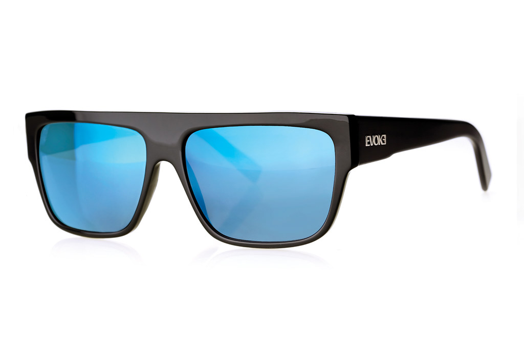 0f8878114eedc ... Evoke X Zegon Black Shine Lens Blue Mirror