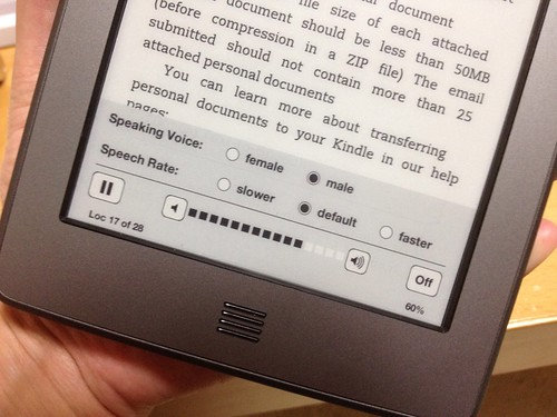 Kindle Touch TTS