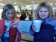 K5 and Q5 drink hotchocolate