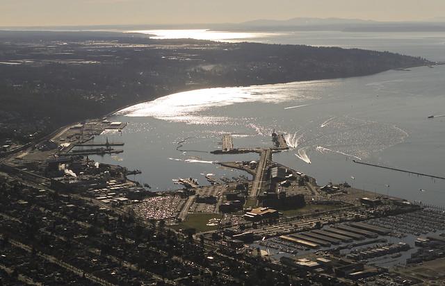 Overlooking Everett Naval Shipyard and the Puget Sound