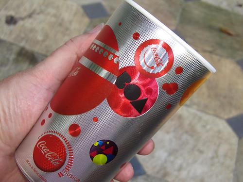 2012 silver 600 ml cups Summer-Music Coca-Cola promo Rio de Janeiro - det 2 by roitberg