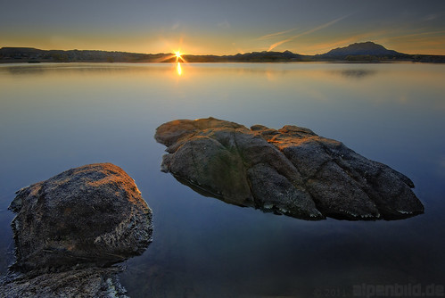 sunset arizona usa sun lake nature rock landscape see evening abend sonnenuntergang natur willow fels landschaft sonne hdr prescott stausee willowlake 4exposures 阳 willowcreekreservoir alpenbildde