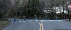 time lapse street crossing