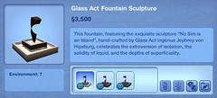 Glass Act Fountain Sculpture
