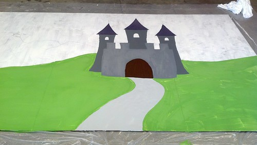 Castle: day 1 of painting