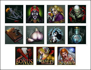 free Blood Suckers slot game symbols