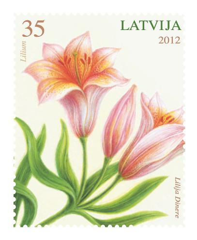 Jauna pastmarka Lilija sērijā Ziedi