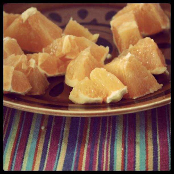 ao almoço: laranja do algarve