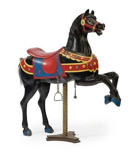 Carved and painted carousel horse Charles Looff, Brooklyn, lot 7246